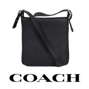 Coach Vintage Leather Flap Bag Boho Crossbody